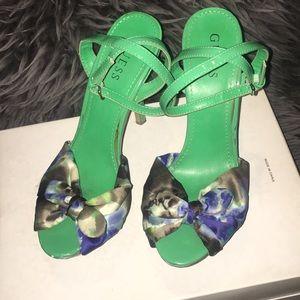 Green Bow Heels